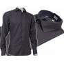 GRAFITOWA koszula męska Slim Fit na spinki lub guzik