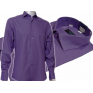FIOLETOWA koszula męska Slim Fit na spinki lub guzik