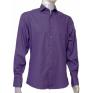 FIOLETOWA koszula męska Fazzini na spinki lub guzik