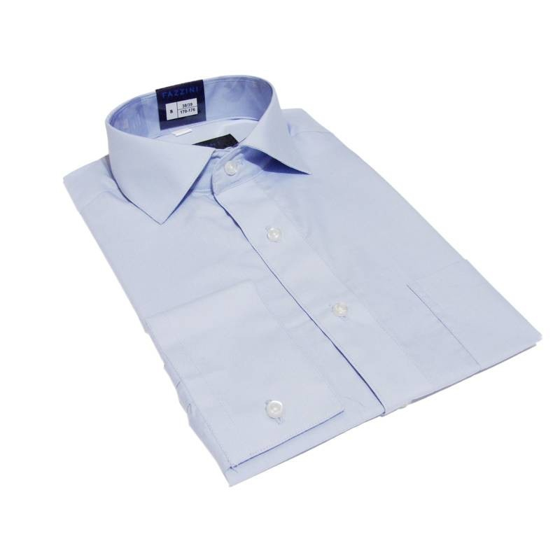 6b04afe7 Biznesowa koszula slim fit BŁĘKITNA