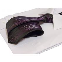 Czarny śledź Jasman w fioletowe pasy