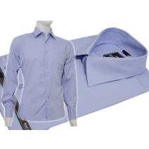 Niebieska koszula męska Slim Fit BULLATTI