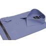 Ciemno-niebieska koszula męska Slim BULLATTI