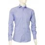 Niebieska koszula męska Slim Fit na spinki lub guzik zdjęcie na manekinie