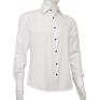 Biała koszula męska Slim Fit mankiet na spinki