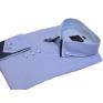 Wizytowa koszula z podwójnym kołnierzykiem button down niebieska-indygo