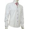 Biała koszula button down z czerwonymi wykończeniami SLIM