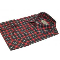 Męska koszula flanelowa czerwono-granatowo-biała