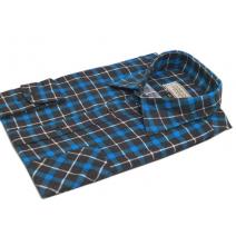 Męska koszula flanelowa niebiesko-czarno-biała