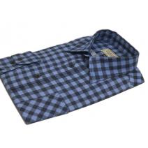 Koszula meska flanelowa niebiesko-granatowa