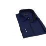 Chabrowa koszula męska SLIM z łatami