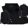 Granatowa koszula męska SLIM z łatami i krytą plisą