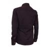 Elegancka fioletowa koszula męska SLIM z łatami i krytą plisą