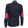 Koszula męska SLIM FIT granatowa rekawy z czerwonymi łatami kołnierzyk button down