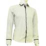 Biała koszula męska kryta plisa krój SLIM FIT sklep