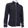 Granatowa koszula męska kryta plisa krój SLIM FIT Japan Style