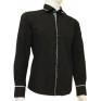 Czarna koszula męska kryta plisa krój SLIM FIT 2kd126