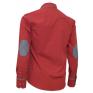 Elegancka koszula męska SLIM FIT w kropki czerwona z łatami