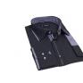 Elegancka koszula męska SLIM FIT w kropki granatowa ozdobne łaty