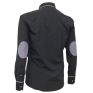 Elegancka koszula męska casual krój SLIM FIT granatowa w kropki łaty