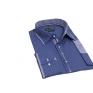 Elegancka koszula męska casual o kroju SLIM FIT w kropki niebieska łaty