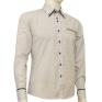 Modna koszula męska SLIM biała w czarny wzorek