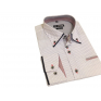 Modna koszula męska SLIM biała w chabrowy wzorek