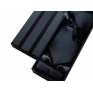 Komplet krawat poszetka i spinki czarny