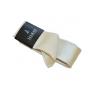 Wąski modny krawat ECRU kremowy + poszetka