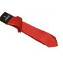 Wąski modny krawat jasna ostra CZERWIEŃ + poszetka