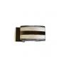 Pasek męski automat kolor srebrno-tytanowy skóra naturalna