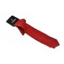 Wąski modny krawat intensywna CZERWIEŃ + poszetka