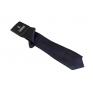 Wąski modny krawat kolor GRANATOWY + poszetka