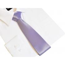 Klasyczny modny krawat LILIOWY fioletowy 7 cm