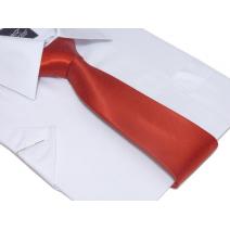 Klasyczny modny krawat jasna CZERWIEŃ 7 cm