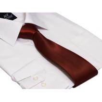 Krawat CIEMNO CZERWONY klasyczny 7 cm