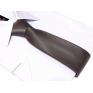 Krawat STALOWO-SREBRNY klasyczny