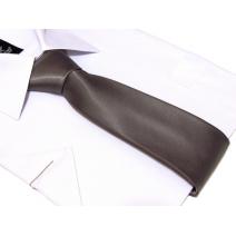 Krawat stalowo-srebrny klasyczny 7 cm
