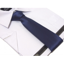 Krawat GRANATOWY klasyczny 7 cm