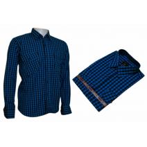 Koszula męska regular niebieska w kratkę