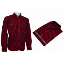Koszula męska regular czerwona w kratkę