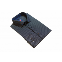Koszula męska Slim Fit czarna w kropki