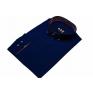 Elegancka koszula męska granatowa z czarnymi wykończeniami