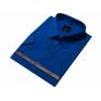 Chabrowa bawełniana koszula męska duże rozmiary