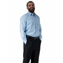 Wizytowa koszula męska do garnituru BŁĘKITNA z długim rękawem
