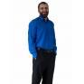 Wizytowa koszula męska niebieska chabrowa szafirowa elegancka