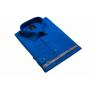 Wizytowa koszula męska niebieska chabrowa szafirowa Laviino elegancka gładka