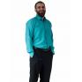Wizytowa koszula męska ZIELONO-NIEBIESKA  z długim rękawem