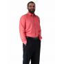 Wizytowa koszula męska malinowa Laviino dl96 100% bawełna