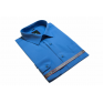 DUŻA koszula męska bawełniana niebieska